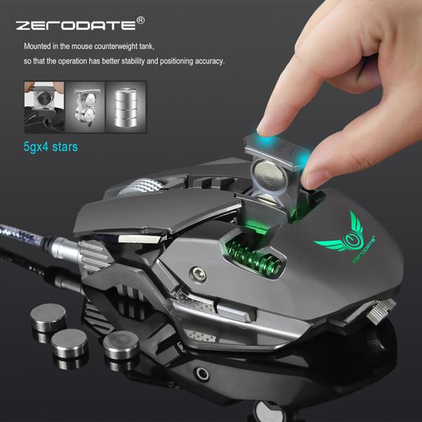 ZERODATE 3200 DPI USB Verdrahtete Competitive Gaming Mouse 7 Programmierbare Tasten Mechanische Makro-Definition Programmierung Spiel Mäuse