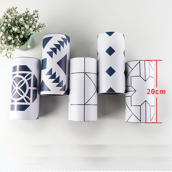 Korean PVC Waist Line 3d Wall Sticker for Bathroom Kitchen Tiles Cabinet Waterproof Self Adhesive Border 3d Stickers 20cmx500cm