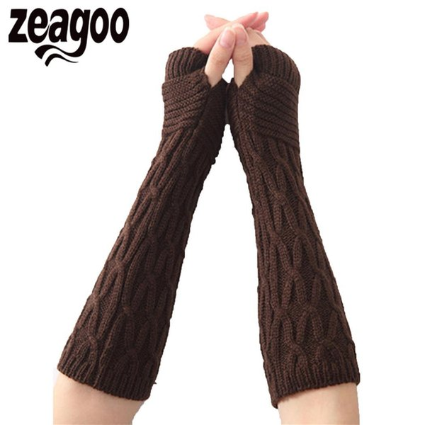 Gloves for women Hole Thumb Women Cable Soft Fashion Arm Fingerless Warmer None Knit free shipping