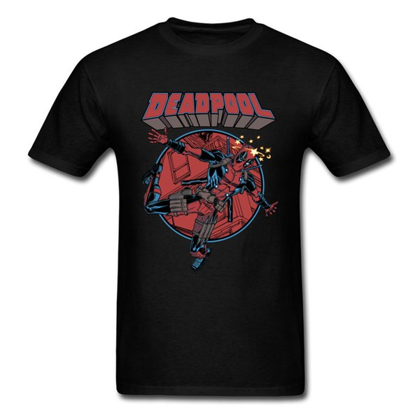Newest Design Mens T Shirt Deadpool Funny Print Tee-Shirt Short Sleeve Fashion Basic Avengers T Shirt For Men Customized Shirt On Sale