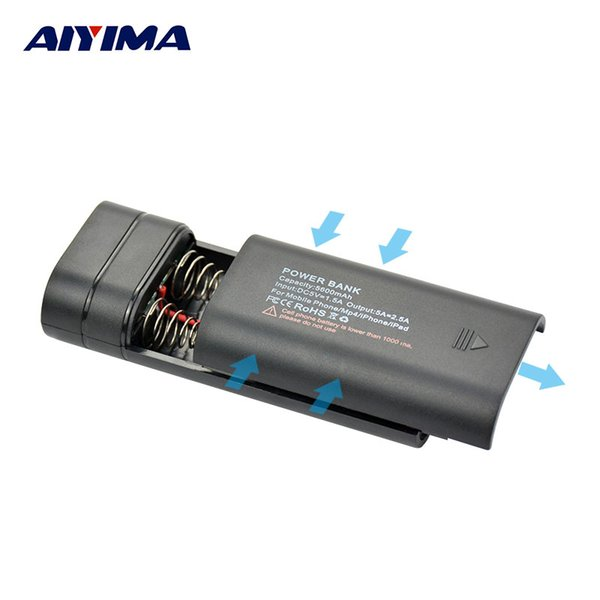 18650 holder 18650 Holder Charger Lithium Battery Box Removable Slide Type Welding Free DIY Mobile Charger Box Bateria 18650 Case