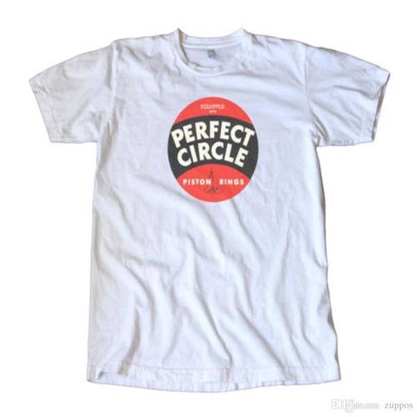 Vintage Perfect Circle Kolben Ringe Aufkleber T-Shirt