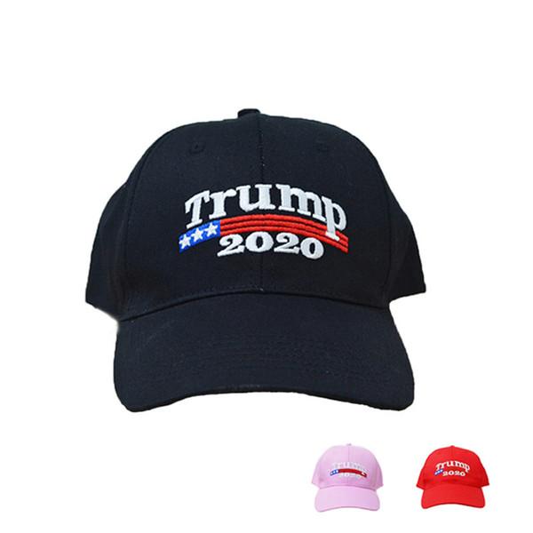 Embroidery Trump 2020 Make America Great Again Donald Trump Baseball Caps Hats Baseball Caps Adults Sports Hats Snapbacks 30pcs