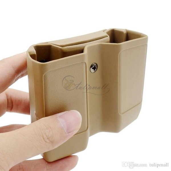 1911 Tactical Polymer Double Mag Case Double Stack Magazine Pouch/Holster Universal Type MATTE Finish For 1911