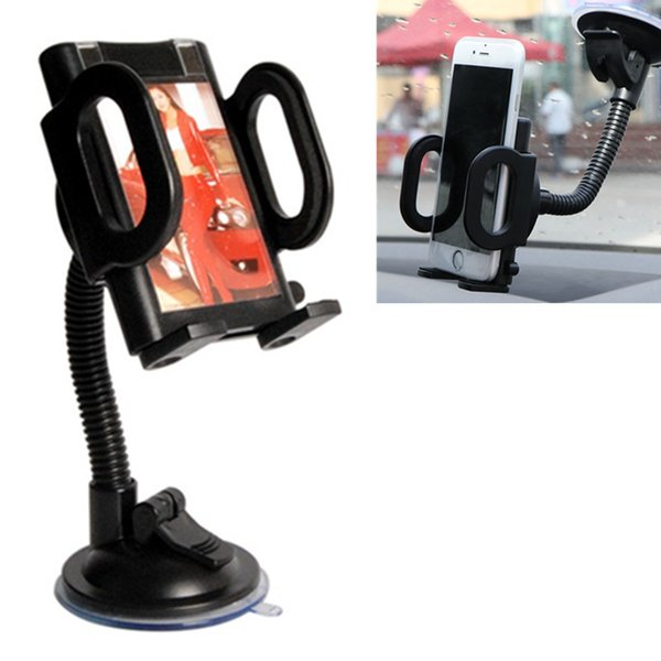360 Degree Rotatable Car Windshield Holder Stand Suction Cup Swivel Mount Cradle For Cell Phone Galaxy S6 iPhone 6 GPS Universal Holder