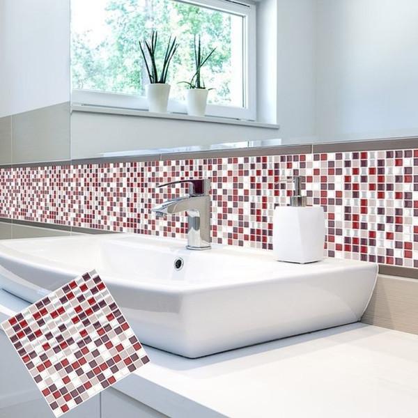 Großhandel Selbstklebende Mosaik Fliesen Wandtattoo Aufkleber DIY Küche  Badezimmer China Wandaufkleber Lieferanten, Peel Und Stick Fliese, 10 X 10  Von ...