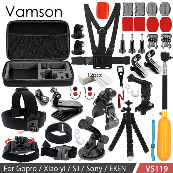 Vamson Accessories for GoPro Set for Xiaomi Yi Floating Bobber Head Collection Box for Gopro Hero 6 5 4 3+ SJ4000 VS119