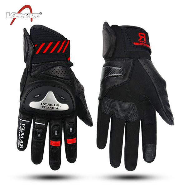 2018 VEMAR VE-177 four seasons Breathable leather motorcycle gloves/ racing gloves/riding gloves/ Outdoor sports Gloves 4 colors