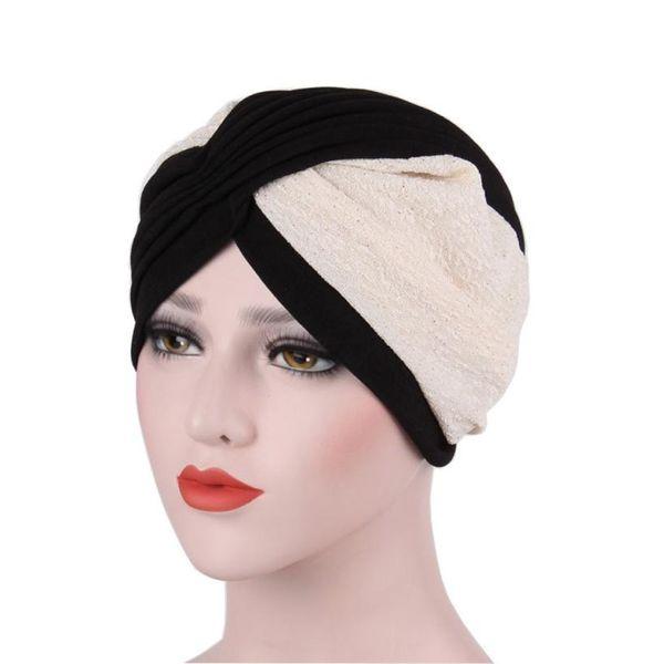 7c83cae66e5 Indian Turban Hats Women Winter Hats Warm Muslim Ruffle Cancer Chemo Hat  Beanie Turban Head Wrap