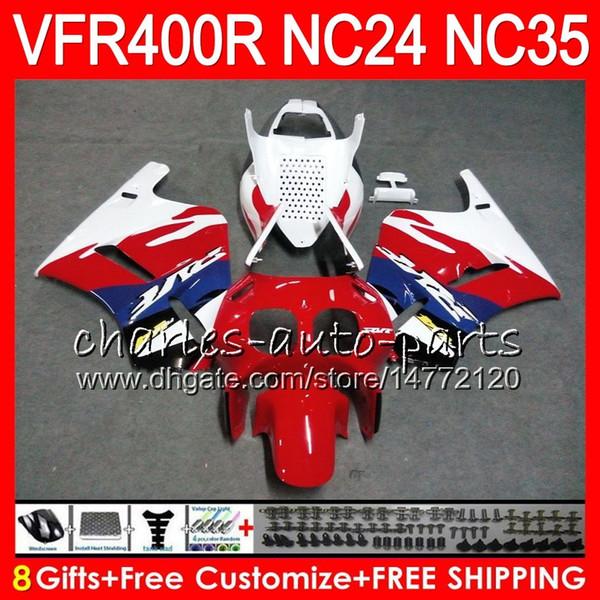 RVF400R Stock red For HONDA VFR400 R NC24 V4 VFR400R 87 88 94 95 96 81HM24 RVF VFR 400 R NC35 VFR 400R 1987 1988 1994 1995 1996 Fairings