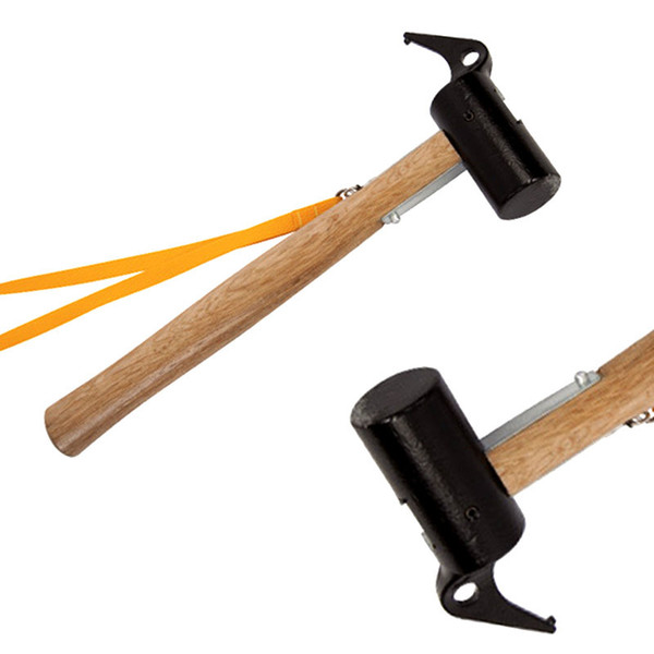 Metal Cast Steel Hammer Multi Function Tent Ground Nail Hammers Wooden Handle High Strength Camping Tools With Rope 28gt B