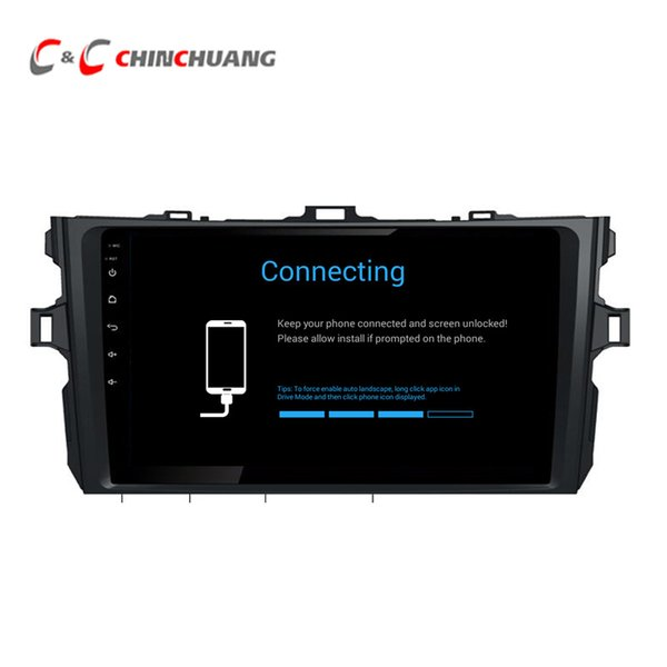 Updated ! T8 Octa-core Android 8.1 Car DVD Player for Toyota Old corolla 2007-2013 With GPS Radio BT Wifi 4G DVR 2G RAM