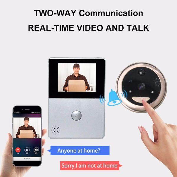 2.8 pollici LCD Wifi Peephole senza fili APP Smart Video campanello di visione notturna HD Camera citofono di video-eye carta di TF di sostegno