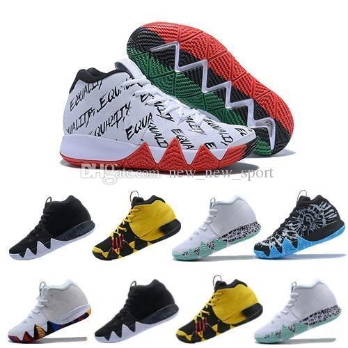 2018 chaussures de basket-ball Irving 4 hommes de haute qualité 4s BHM oncle ont fait appel à l'or / Championnat Multicolore Obsidienne Finales Hommes Baskets de Sport Baskets