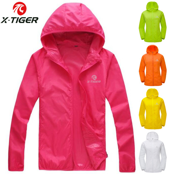 X-TIGER Womens Summer Skin Thin Anti-UV Windproof Cycling Jersey MTB Bike Windcoat Sunscreen Hiking Jacket Bicycle Clothes