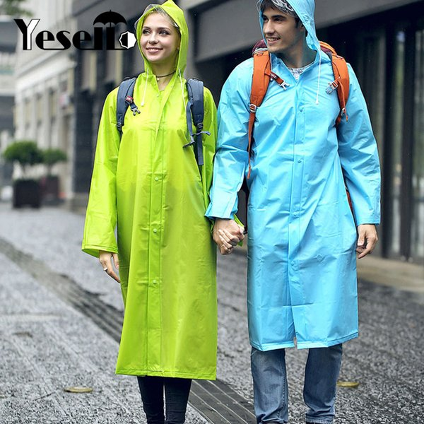 Yesello Lightweight Packable Poncho Wind Hooded Raincoat Coat for Women Outdoor Travel