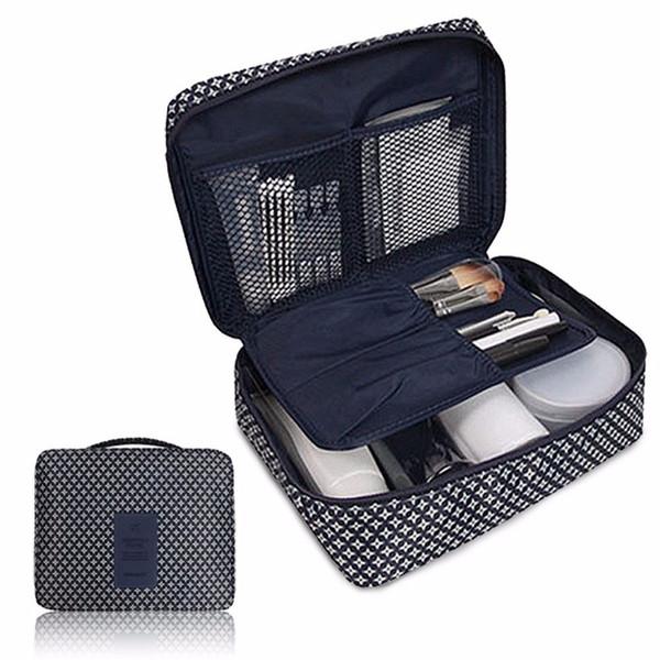 Storage Bag Organizer Clear Waterproof Nylon Fabric Cosmetic Makeup Wash Comestic Travel Bag Toiletry Travel Kit 2018 B#