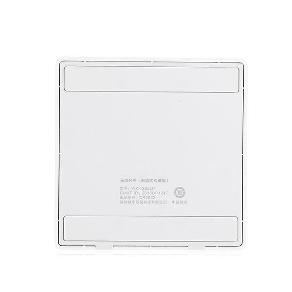 Xiaomi WXKG02LM Aqara Smart Light Switch versión inalámbrica doble clave para el hogar / control remoto de la empresa