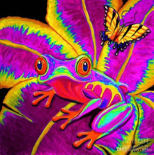 5D DIY Diamant Brodé Plein Carré Rond Diamant Peinture Saut Frog Papillon Feuille Point De Croix De Mode Artisanat Cadeau Décoration de La Maison