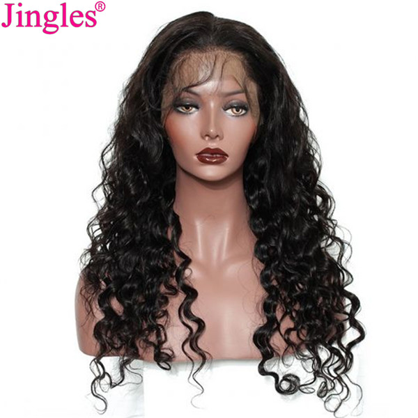 Raw Indian lâche vague 360 Full Lace perruques de cheveux humains pré plumé gros qualité naturelle non transformée vierge Remy Full Lace perruques de cheveux humains