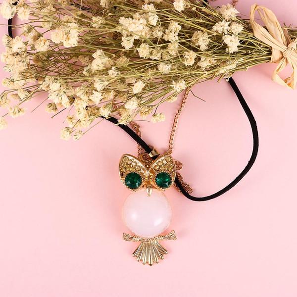 Sweet Air Balloon Owl Pumpkin Carriage Pendant Long Chain Necklace Vintage