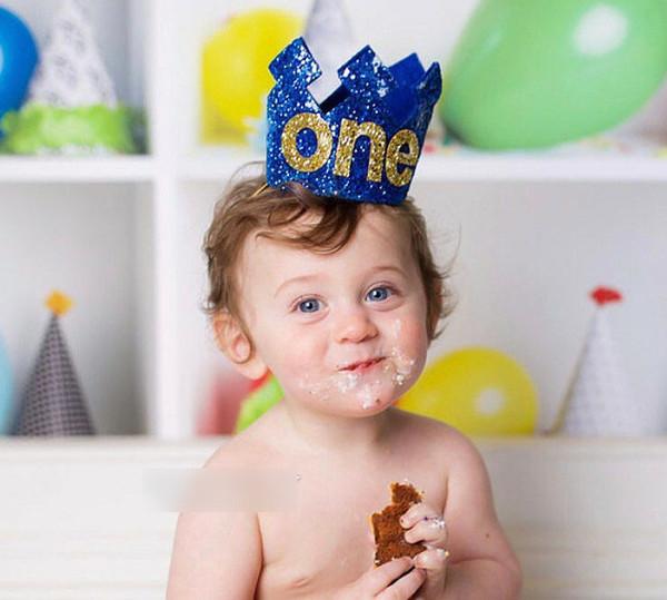 Glitter Baby bambini festa di compleanno fasce boutique paillettes corona cappello principi principessa fasce per capelli per bambini puntelli fotografia YA0306