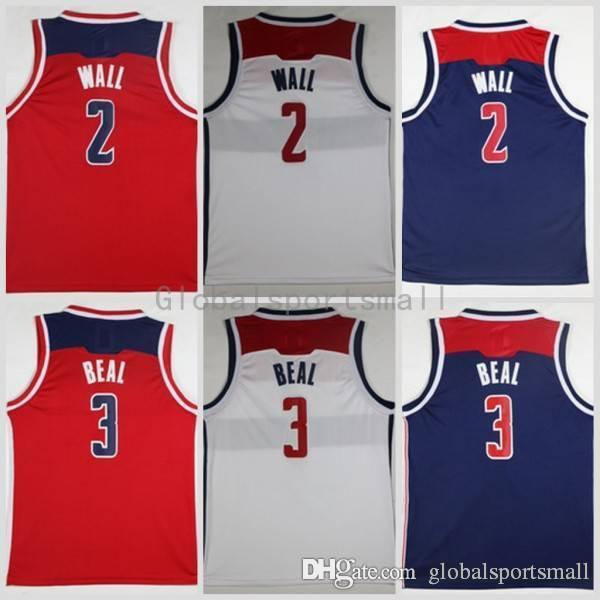 new style d9415 6c7ce 2017 2018 New 2 3 Bradley Beal Stitched Basketball Jerseys Cheap Mens 2 3  Bradley Beal Blue Red Shirts S Xxl From Globalsportsmall, $14.09 | ...