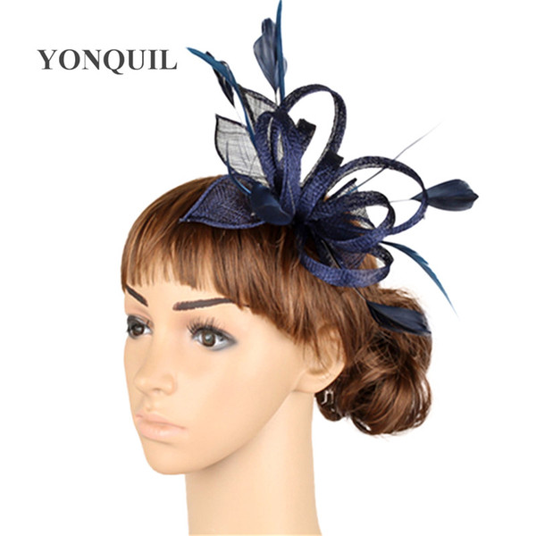 High quality multiple color fascinator headwear wedding hair accessories women millinery cocktail occasion hats MYQ005