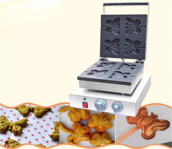 Creatore della cialda di figura della farfalla dell'acciaio inossidabile di BEIJAME / waffle commerciale che fa macchina / panettiere elettrico della cialda da vendere
