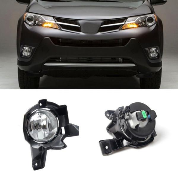Car Fog Lights For Toyota Rav4 2013 2015 Halogen Bulb 9006 12v 55w Clear Front Fog Lamp Assembly Kit One Pair Led Fog Lamp Led Fog Lamp Bulbs From