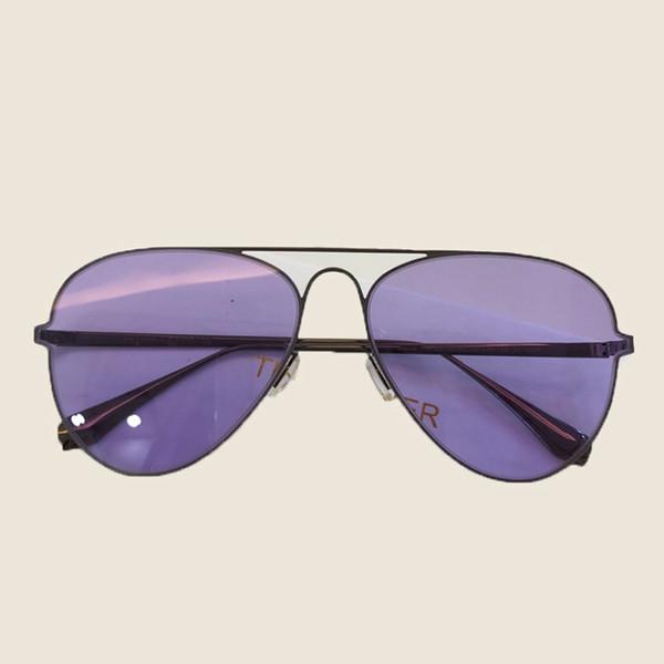 Kadın Pilot Güneş Gözlüğü 2018 Oval vintage Tasarımcı Ayna Güneş Gözlüğü Metal Lens Güneş Gözlükleri Kadın Oculos Ambalaj Kutusu Ile