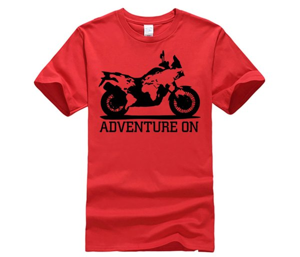 Hombres camiseta estilo de moda de verano camiseta de algodón Biker Moto Adventure 1290 1050 950 640 1200 1190 990 R Race camiseta
