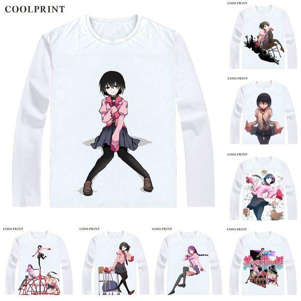 Owarimonogatari T-Shirts Long Sleeve Shirts Anime Manga Oshino Ougi Meme's niece Oshino Shinobu Cosplay Shirt