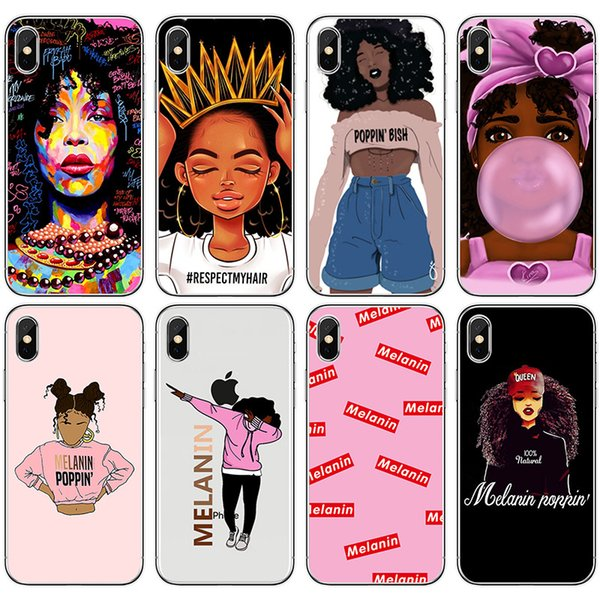 Soft TPU Fashion Girl Painted Phone Case For iPhone X 8 7 6 6s plus 5S Samsung Galaxy S7 Edge S8 S9 Plus Note 8 Silicone Back Cover Shell