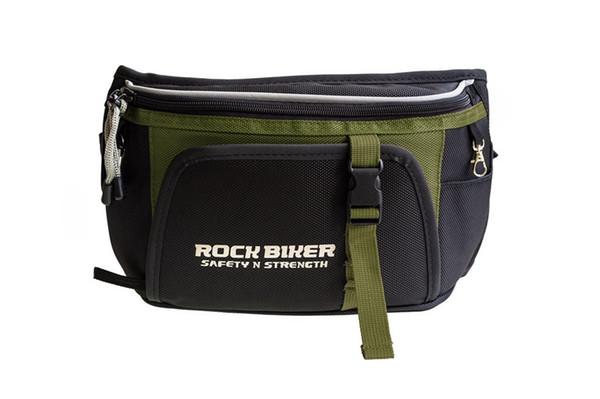 Free shipping 2017 Rock biker Tool Pack Black Offroad ATV Motorcycle Riding Tool Tube Waist Storage Bag green/BLACK R