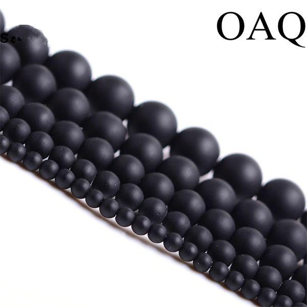 Grânulos De Pedra Natural 4-14mm Rodada Fosco Por Atacado Preto Contas Maçante Polonês Onyx Cornalina Pedra Preta para fazer jóias