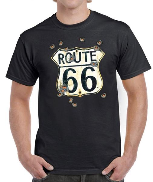 BIKE T-SHIRT ROUTE 66 BULLET HOLES