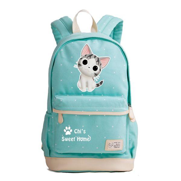 2018 New Japanese Anime Chi's Sweet Home Kawaii Cat Emoji School Bags Cute Women Backpack Cartoon Backpacks for Teenage Girls