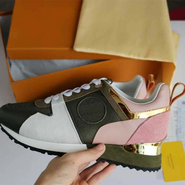 2018 NEW Luxury leather casual shoes Women Designer sneakers men shoes genuine leather fashion Mixed color original box