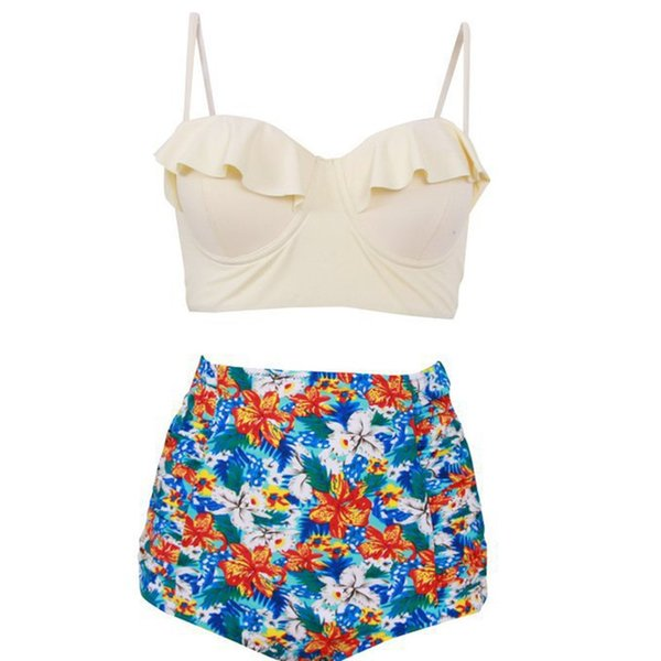 New Walker Maternity Swimwear Pregnant Women Bikini Swimsuit Maternity Halter Plus Size Swimwear Beach Bathing Suits