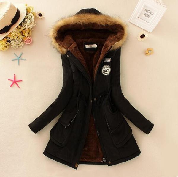 Winter Jacket Women New Winter Womens Parka Casual Outwear Hooded Coat Fur women Coat Manteau Femme Woman Clothes