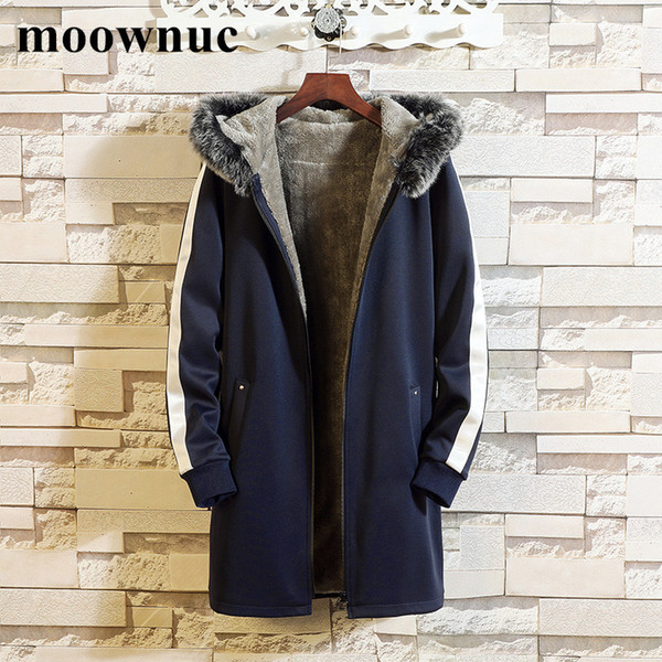 2018 New Autumn Winter Men's Coats with Fleece Liner M-4XL, 5XL Casual Thickening Hooded Jackets Warm Cotton Windbreakers Men