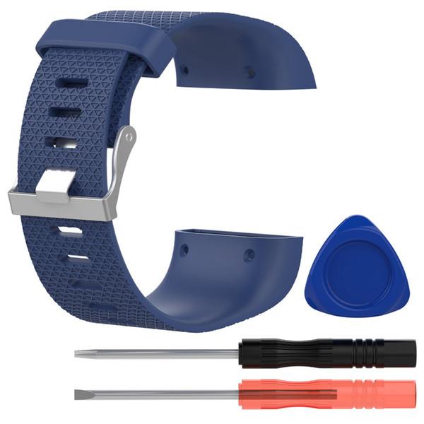 Encre Noir Bracelet De Remplacement Sangle Bande Bracelet Accessoires pour Fitbit Surge