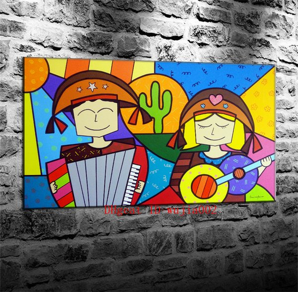 Hand Piano Couple , Canvas Painting Living Room Home Decor Modern Mural Art Oil Painting