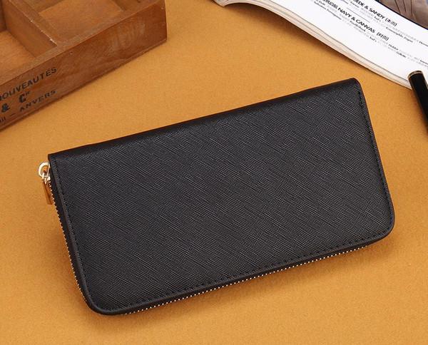 Wholesale M Series Designer Fashion Single Zipper Cross Pattern Wallet Cheap Luxury women Pu Leather Wallet Long purse 002