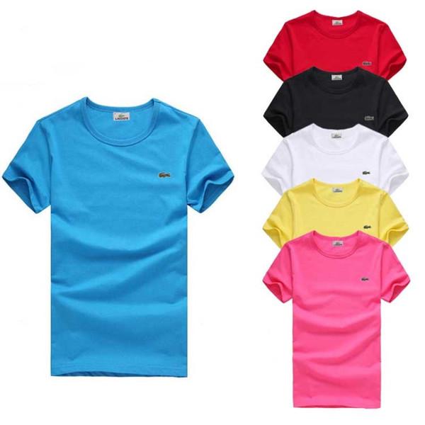 S-6XL Más del tamaño T Shirt Marca de moda Hombres Mujeres Camiseta de manga corta Verano Cocodrilo Bordado Camisetas Para Hombre de Alta Calidad Blusa Casual Tops