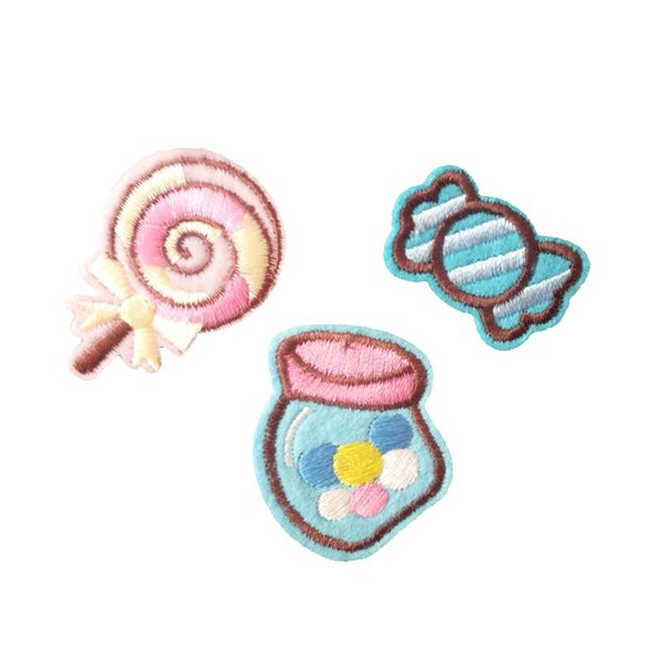 Embroidery patch Candy series Iron patch cloth Back gum appliques skirt jeans jacket racksack sewing decorative accessories DL_CPIF010