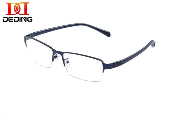 DEDING 60 MM Iş Boy Gözlük Çerçeve Süper Büyük Optik Gözlük Yarım Çerçeve Büyük Baş Metal Büyük Boy Gözlük DD1455