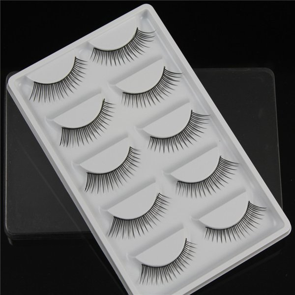 New Arrival Thick Natural Long False Eyelashes Synthetic Hair 5 pairs each pack Black Extension Fake Lashes crisscross eyelash DHL Free