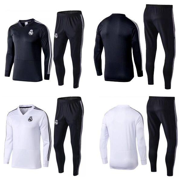 Survetement football de foot realmadrid 2019 ramos marcelo equipacion  trainingspak soccer jersey suit real madrid long sleeve tracksuit 19 6e8bfcb3c